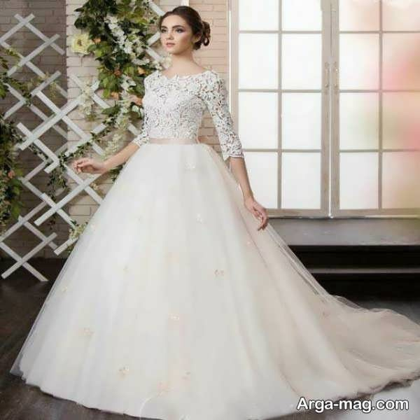 مدل لباس عروس گیپور جذاب