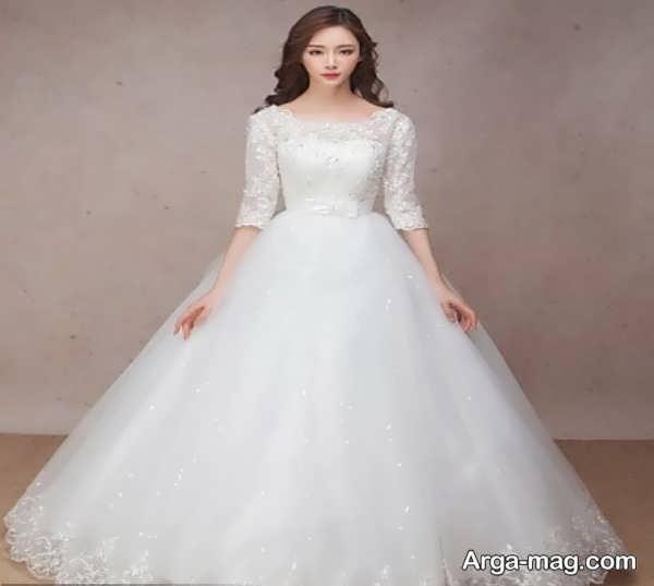 مدل لباس عروس گیپوردار زیبا