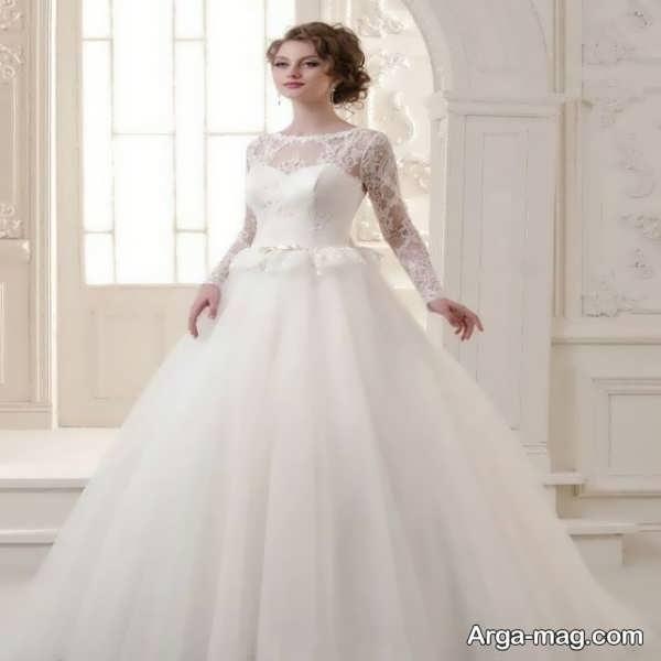 مدل لباس عروس گیپوردار