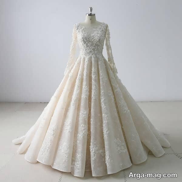مدل پیراهن عروس گیپوردار زیبا