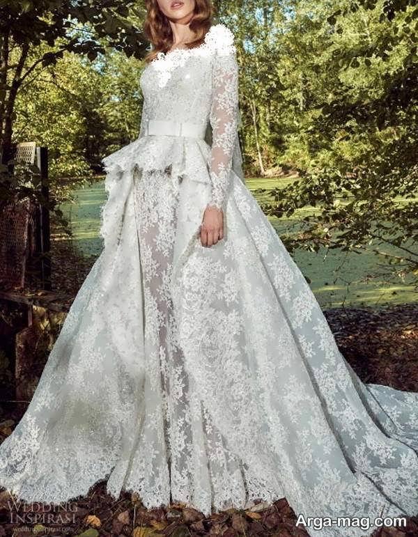 مدلهای پیراهن عروس گیپوردار