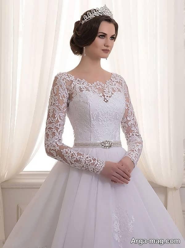 مدل لباس عروس گیپوردار شیک