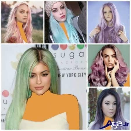 مدل های رنگ مو مداد رنگی سال 2016