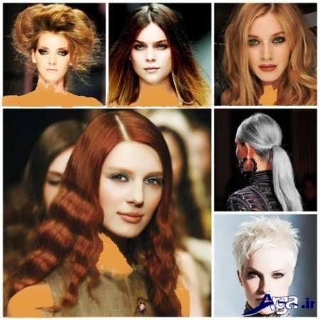مدل رنگ موی مسی