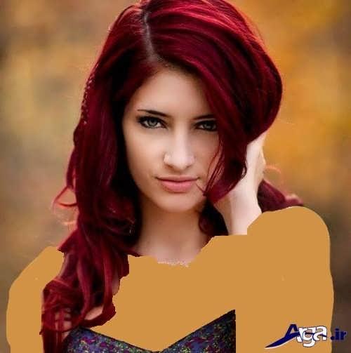 رنگ موی زیبا و فوق العاده عنابی