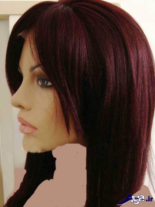 مدل رنگ مو عنابی