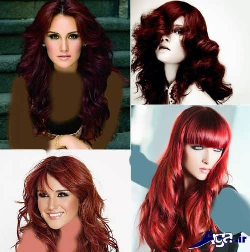 انواع مدل مو و رنگ مو عنابی