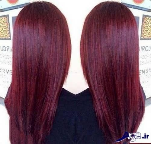 مدل رنگ موی عنابی