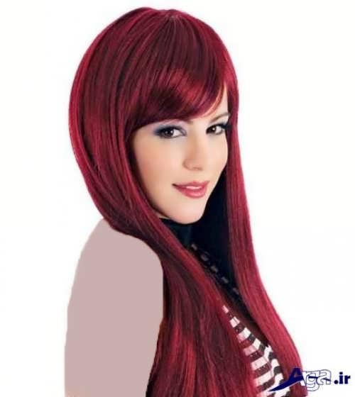 مدل موی چتری زیبا و بلند رنگ شده