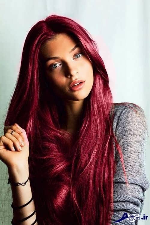 رنگ مو منحصر به فرد عنابی