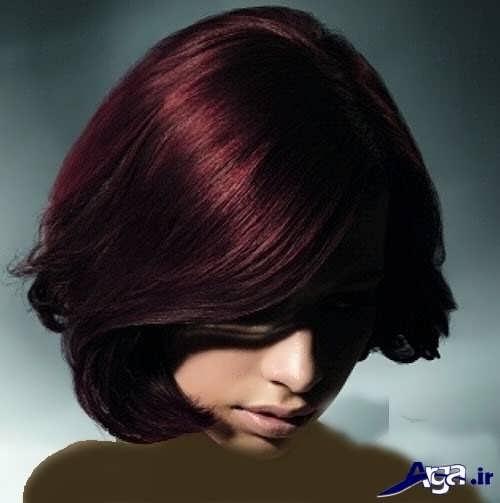 فرمول های رنگ موی جذاب عنابی