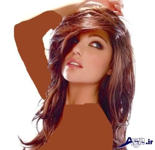 مدل مو و رنگ موی عنابی تیره