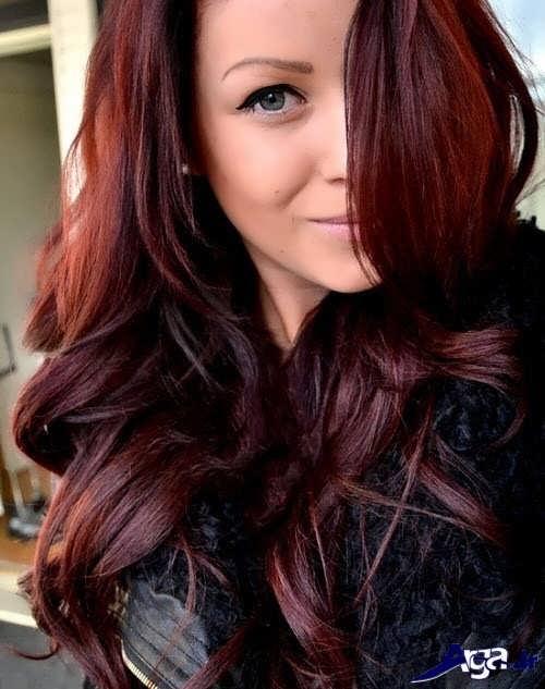 رنگ مو عنابی زیبا