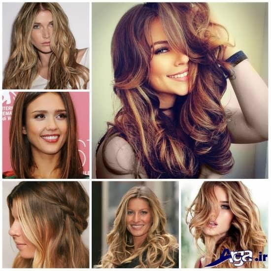 انواع مدل مش برای رنگ مو های مختلف