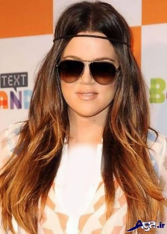 مدل های هایلایت بر روی موی بلند
