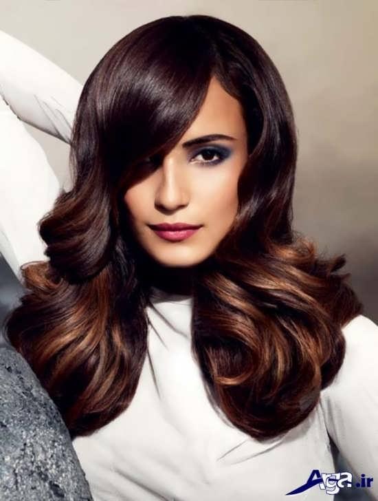 مدل هایلایت مو برای مو ها با رنگ زمینه تیره