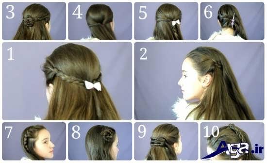 انواع مدل آرایش مو در خانه به همراه آموزش تصویری مدل مو ها