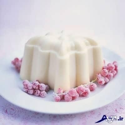 ژله با شیر
