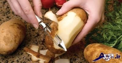 طرز تهیه سیب زمینی