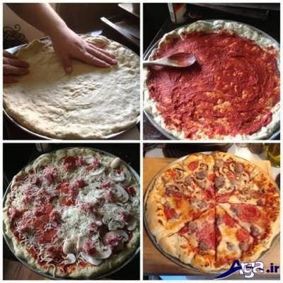 روش طبخ پیتزا