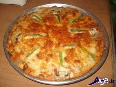 پیتزا تابه ای خوشمزه
