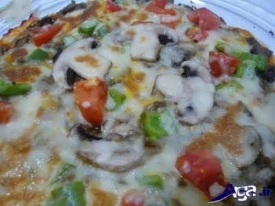 روش پخت پیتزا خانگی تابه ای