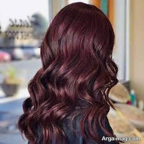 رنگ عنابی برای موها