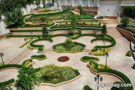 دیزاین فضای سبز با ایده شیک
