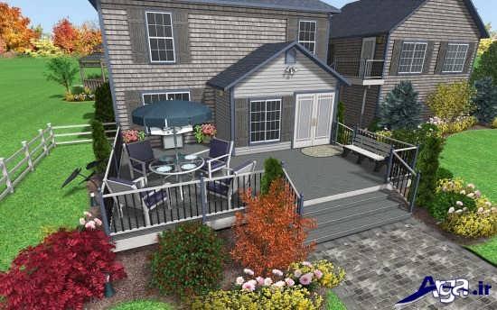 دیزاین فضای سبز حیاط