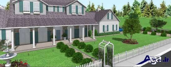 طراحی فضای سبز حیاط