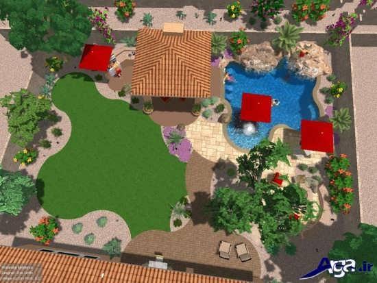 عکس فضای سبز طراحی شده برای ساختمان