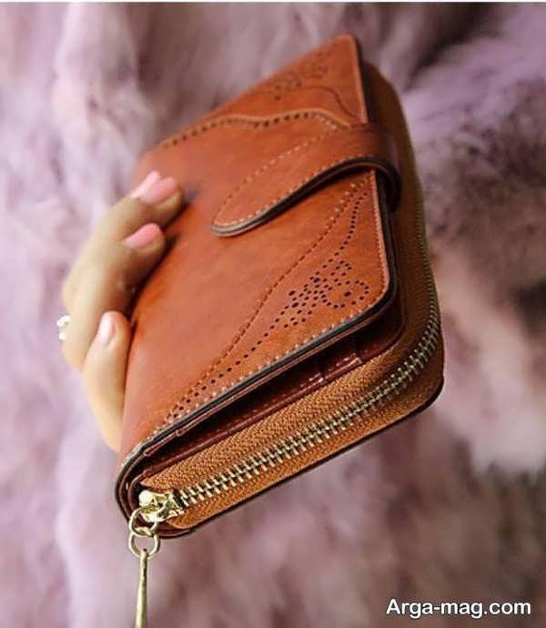 کیف پول چرمی زیبا