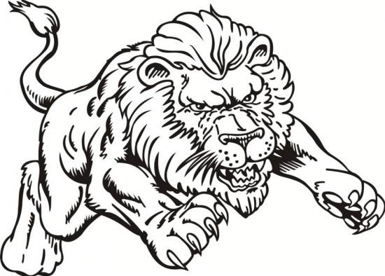 free roaring lion coloring pages - photo#13