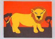 رنگ آمیزی شیر جنگل بهترین سرگرمی کودکان پسر