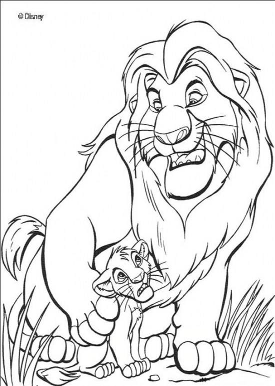 نقاشی بچه شیر برای کودکان