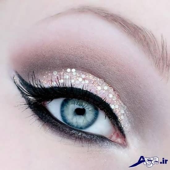 مدل زیبا آرایش چشم عروس