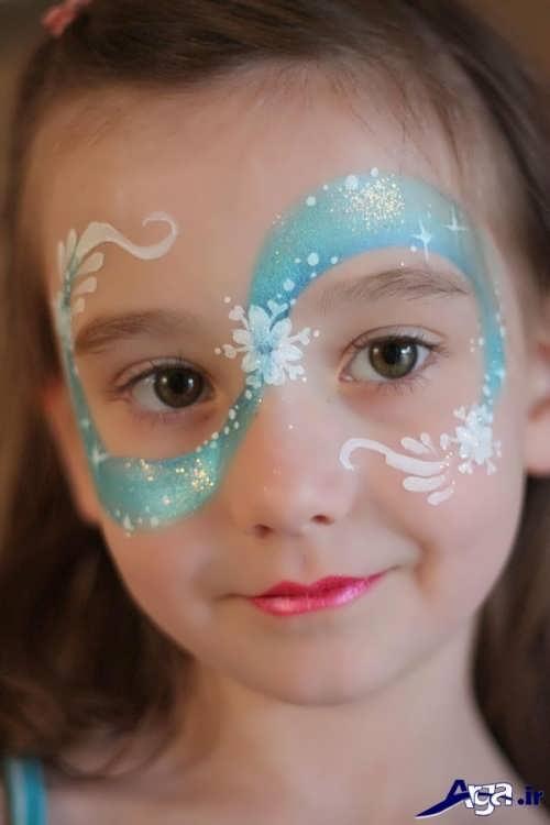 گریم زیبا کودکان با طرح گل