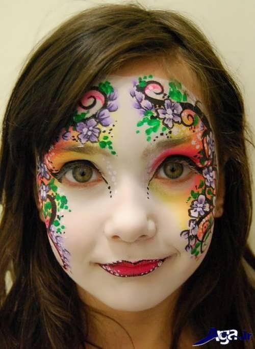 گریم کودک با طرح گل