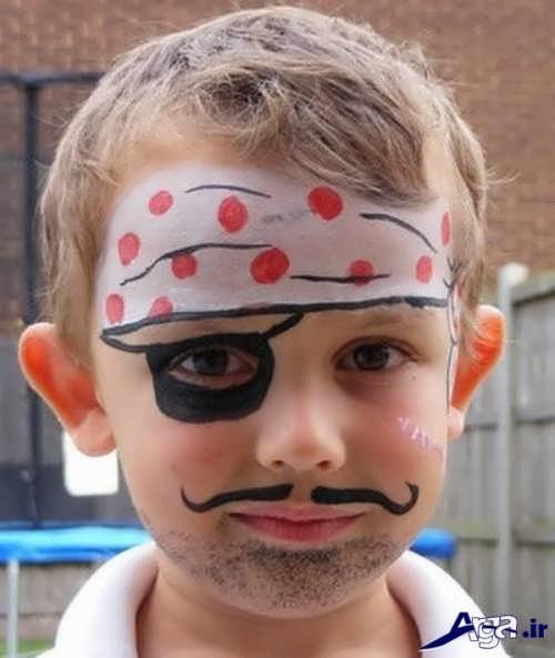 نقاشی بر روی صورت کودکان با اشکال متنوع