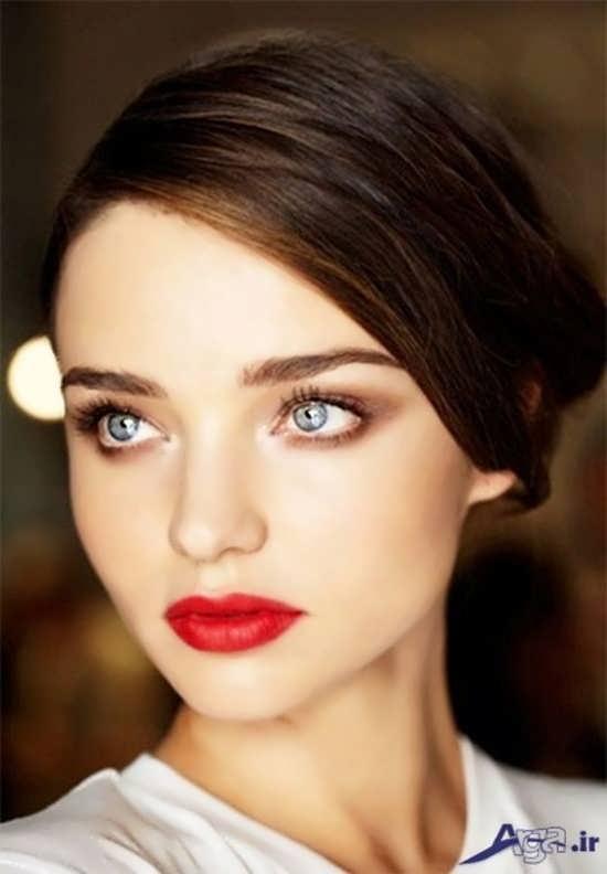 مدل آرایش ملایم صورت دخترانه