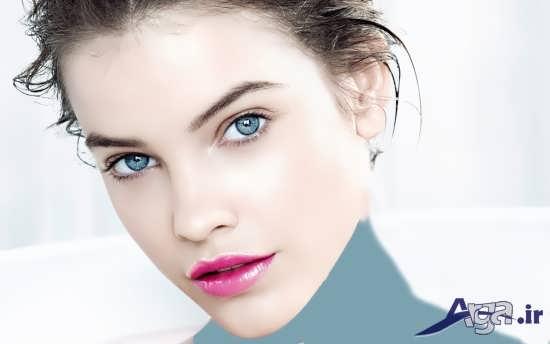 مدل آرایش دخترانه برای چشم رنگی