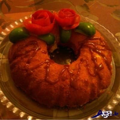 تزیین زیبای کیک گوشت