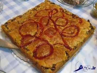 تزیین ساده کیک گوشت
