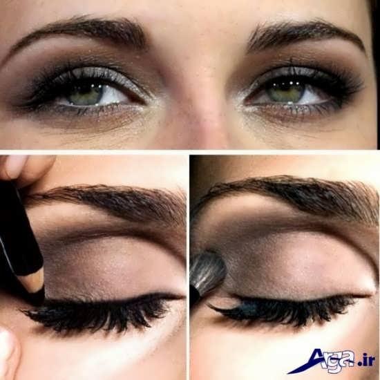 مدل ساده آرایش چشم