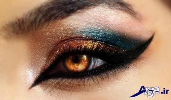 آرایش چشم با چند رنگ سایه