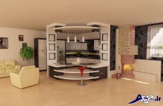 عکس اپن آشپزخانه جدید و زیبا