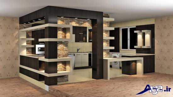 مدل آشپزخانه اپن جدید و زیبا