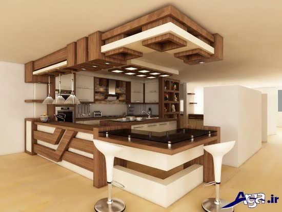 مدل اپن آشپزخانه شیک و زیبا