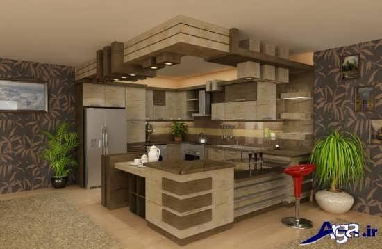 طراحی آشپزخانه اپن جدید و مدرن