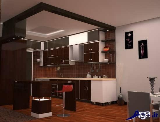 مدل های اپن آشپزخانه ام دی اف